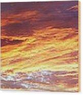 Bright Summer Sky Wood Print