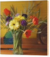 Bright Winter Bouquet Wood Print