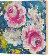 Brightly Floral Wood Print