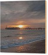 Brighton Pier Wood Print by Jacqui Collett