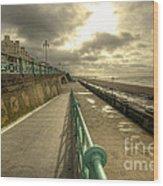 Brighton Promenade Wood Print