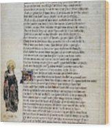 Brigit Of Kildare (d Wood Print