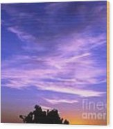 Brilliant Blue Sunrise Wood Print
