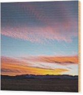 Brilliant Evening Colors Hang Wood Print