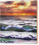 Brilliant Nags Head Sunrise Wood Print