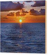 Brilliant Sunset Wood Print