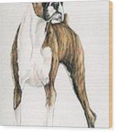 Brindle Boxer Wood Print by Charlotte Yealey