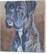 Brindle Boxer Wood Print
