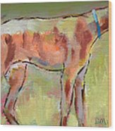 Brindle Greyhound Wood Print by Carol Jo Smidt