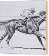 Bring On The Race Zenyatta Wood Print