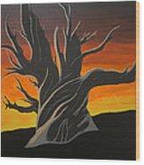 Bristle Cone Pine At Dusk Wood Print