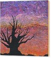 Bristlecone Pine Silhouette Wood Print