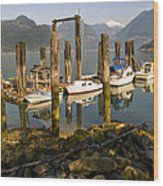 Britannia Beach Wood Print