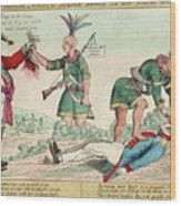 British And American Indian Raids Wood Print