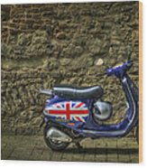British At Heart Wood Print