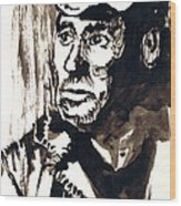 British Coal Miner Wood Print