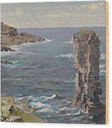 British Coastal View. Coast Of Cornwall Wood Print