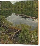 British Columbia Starvation Lake Wood Print