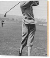 British Golfer Sir Ernest Holderness Swinging Wood Print