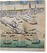 British Landing, 1768 Wood Print