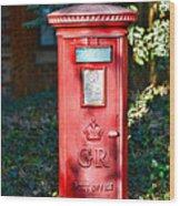 British Mail Box Wood Print