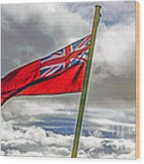 British Merchant Navy Flag Wood Print