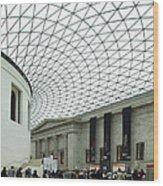 British Museum - The Entrance Wood Print