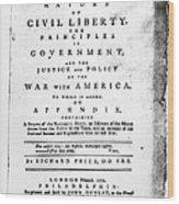 British Pamphlet, 1776 Wood Print