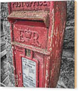 British Post Box Wood Print by Adrian Evans
