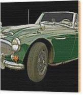 British Racing Green Wood Print