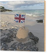 British Sandcastle Wood Print