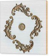 British Shilling Original Color  Wood Print by Joseph Baril