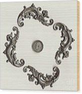 British Shilling Wall Art Version 1 Wood Print by Joseph Baril