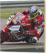 British Superbike Rider Barry Burrell   Wood Print