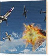 British Supermarine Spitfires Battle Wood Print