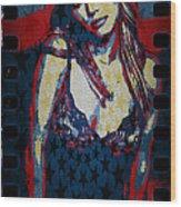 Britney Pop Art Wood Print