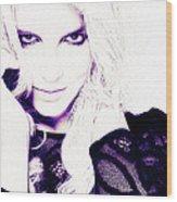 Britney Spears Wood Print