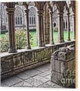 Brittany Cloister  Wood Print