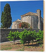 Brittany Vineyard And Monastery  Wood Print