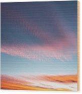 Broad Brushstrokes Of Clouds Paint Wood Print