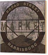 Broad Street Market Wood Print