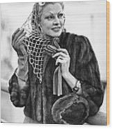 Broadway Actress Claire Luce Wood Print