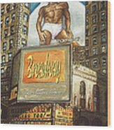 Broadway Billboards - New York Art Wood Print