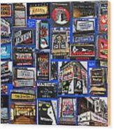 Broadway Collage Wood Print