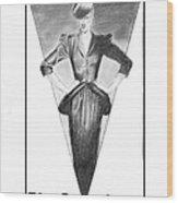 Broadway Dame Wood Print by Sarah Parks