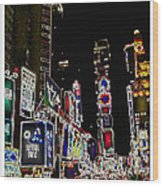 Broadway Wood Print by Joan  Minchak