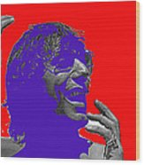 Broadway Joe Namath Telling Football Story C.c. And Co. Set  Tucson Arizona 1970-2012 Wood Print