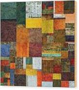 Brocade Color Collage 1.0 Wood Print
