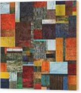 Brocade Color Collage 2.0 Wood Print