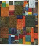 Brocade Color Collage 3.0 Wood Print